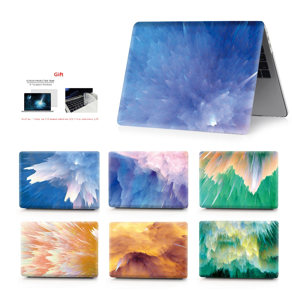New Color painting notebook case for Macbook Air 11 13 Pro Retina 12 15 inch Colors Touch Bar or