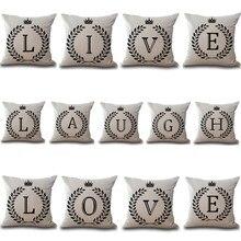 Cotton Linen Throw Pillow Case 43*43cm