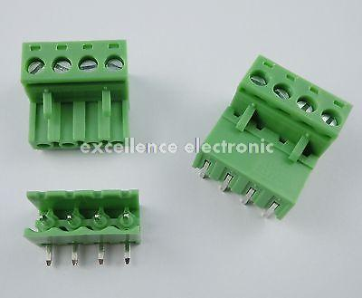 50 Pcs 5.08mm Pitch 4 pin 4 way Screw Pluggable Terminal Block Plug Connector 2EDG L pluggable terminal blocks 3 pos 10 16mm pitch plug 18 6 awg screw