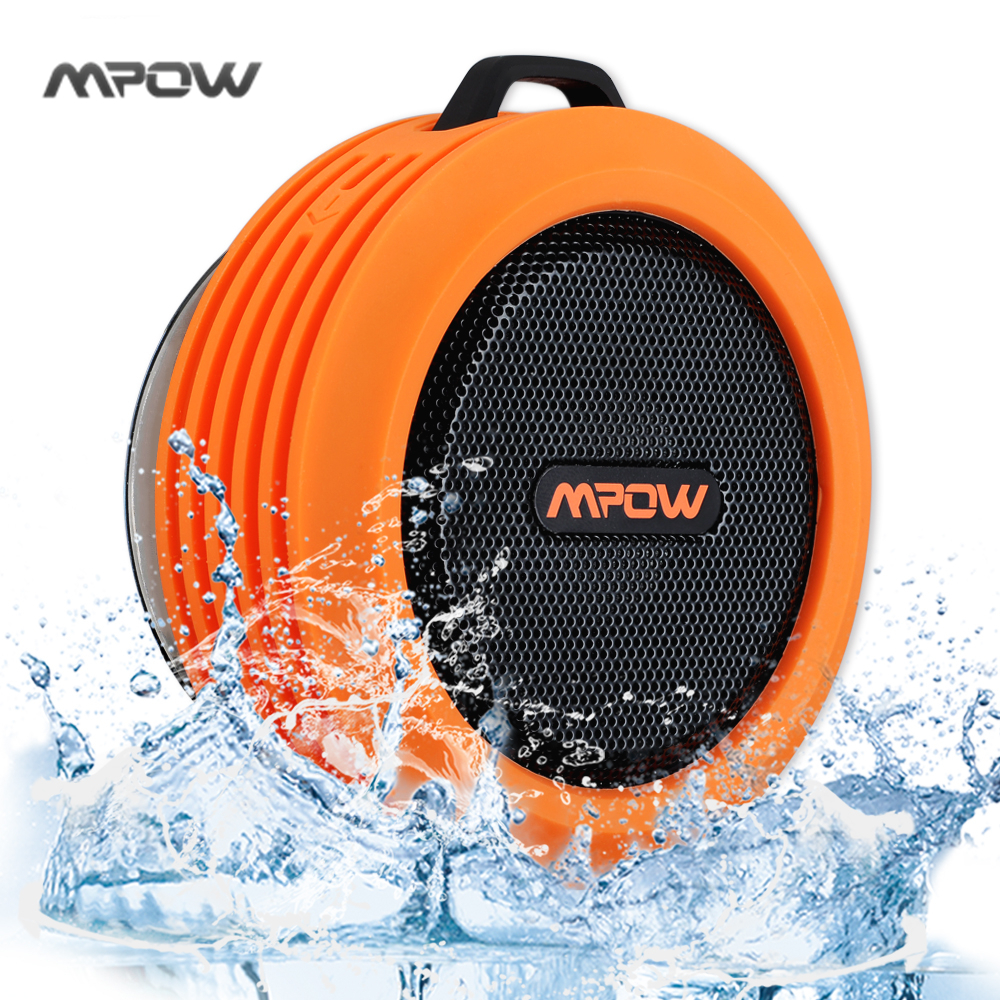 Mpow Portable Wireless Bluetooth 3 0 Speaker Waterproof speaker with Powerful Driver built in Mic Suction