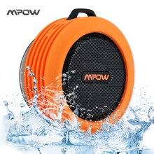 Mpow Портативный Беспроводной Bluetooth 3.0 Динамик Водонепроницаемый динамик с мощным драйвер/Встроенный Микрофон всасывания Динамик открытый