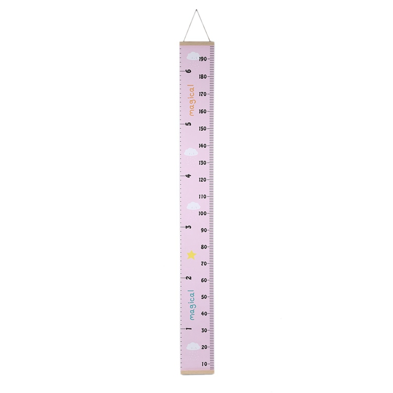 HOT-Nordic Style Baby Child Kids Height Ruler Kids Growth Size Chart Height Measure Ruler For Kids Room Home Decoration Art Or