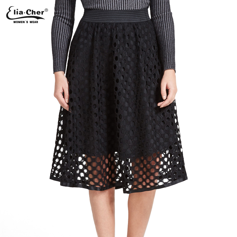 In The Autumn And Winter Grown Place Umbrella Skirt Retro Waisted Body Skirt New Europe And The Code Word Pleated 8850