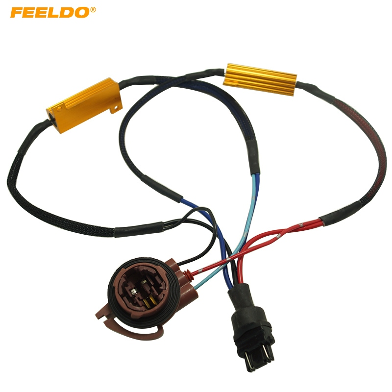 Automobiles & Motorcycles Aspiring Feeldo 1pc 3157b Led Decoder Warning Error Canceller Turn Signal Brake Lamp Anti Flicker Load Resistor #5342 Wire