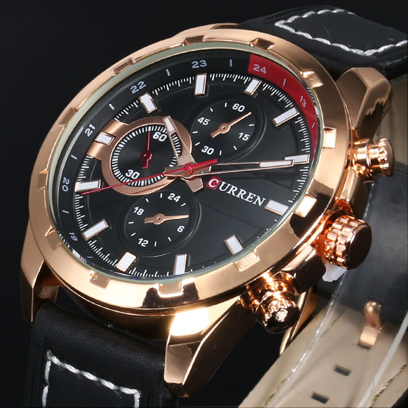 Gold And Black   Sports Watches Reloj Hombre Waterproof