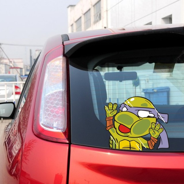 Funny ninja turtles car stick car car motorcycle trolley suitcase notebook sticker car styling