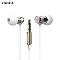 D'origine Remax RM 565I En Métal De Mode En Acier Inoxydable Haute Performance Stéréo Écouteurs avec Microphone Dans L'oreille Portable Casque