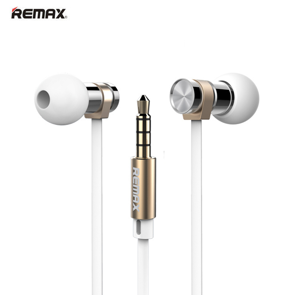 Original Remax RM 565I Metal Fashion Stainless Steel High Performance Stereo Earphone with Microphone In-ear Portable Headphone remax rm 610d base driven high performance stereo earphone with microphone and in line control rm 610d