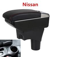Car Armrest For Nissan Sunny Versa 2018 2017 2016 2015 2014 2013 2012 2011 USB Organizer Storage Box Cup Holder Auto Accessories
