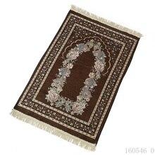 2020 nowy 70*110cm cienki podróżny islamski dywanik modlitewny/dywan/dywan do kultu Salat Musallah dywan modlitewny modląc maty Tapete PM29