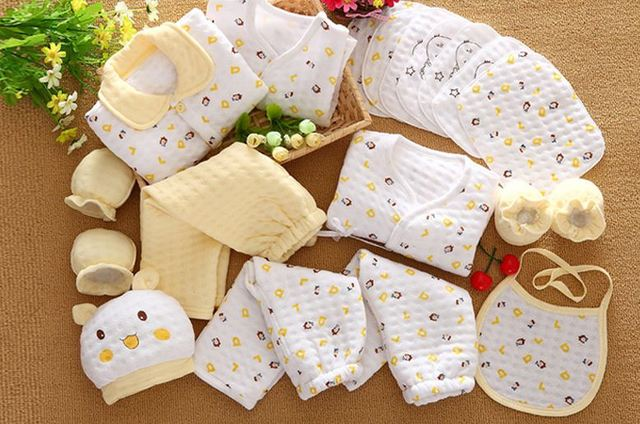 18 Pcs/Set Cotton Newborn Baby Girl Clothes Autumn Winter Baby Boy Clothing Set Cartoon Print New Born Baby Clothes Outfit Gift 3
