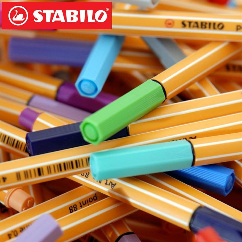 Image 2 - 25pcs STABILO Point 88 Fineliner Fiber Pen Art Marker 0.4mm Felt Tip Sketching Anime Artist Illustration Technical Drawing PensArt Markers   -