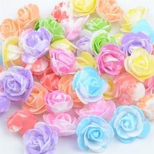 500PCS /bag mini multicolor PE foam rose head artificial rose flower handmade DI