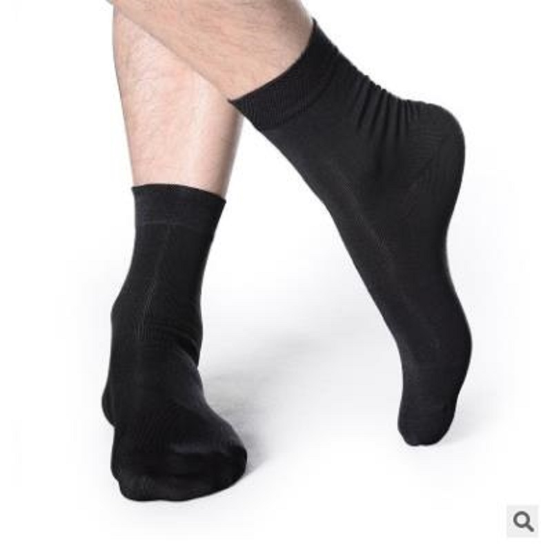 10PCS=5 pairs 44, 45, 46, 47,48 EU plus size long leg business socks crew men socks(China)