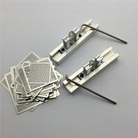 1Set 29pcs Universal Direct Heating BGA Stencils Templates 2pcs Reballing Jig For Chip Rework Repair Soldering