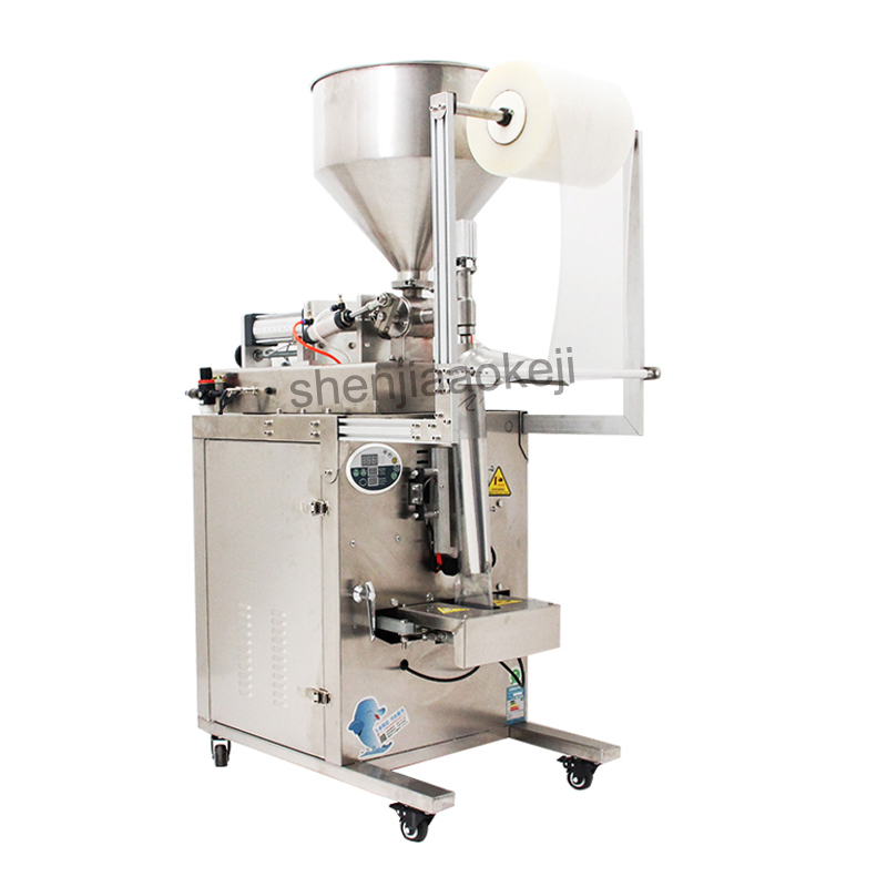 Assaisonnement automatique/huile de piment/matériau de fond/vinaigre/eau liquide Machine à emballer pâte liquide Machine de remplissage 220 v/110 v 1 pc
