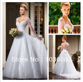 Brazil Designer White Sweetheart Luxuriant Button Back Beaded Ball Gown Long Sleeve Wedding Dresses Vestidos De Noivas