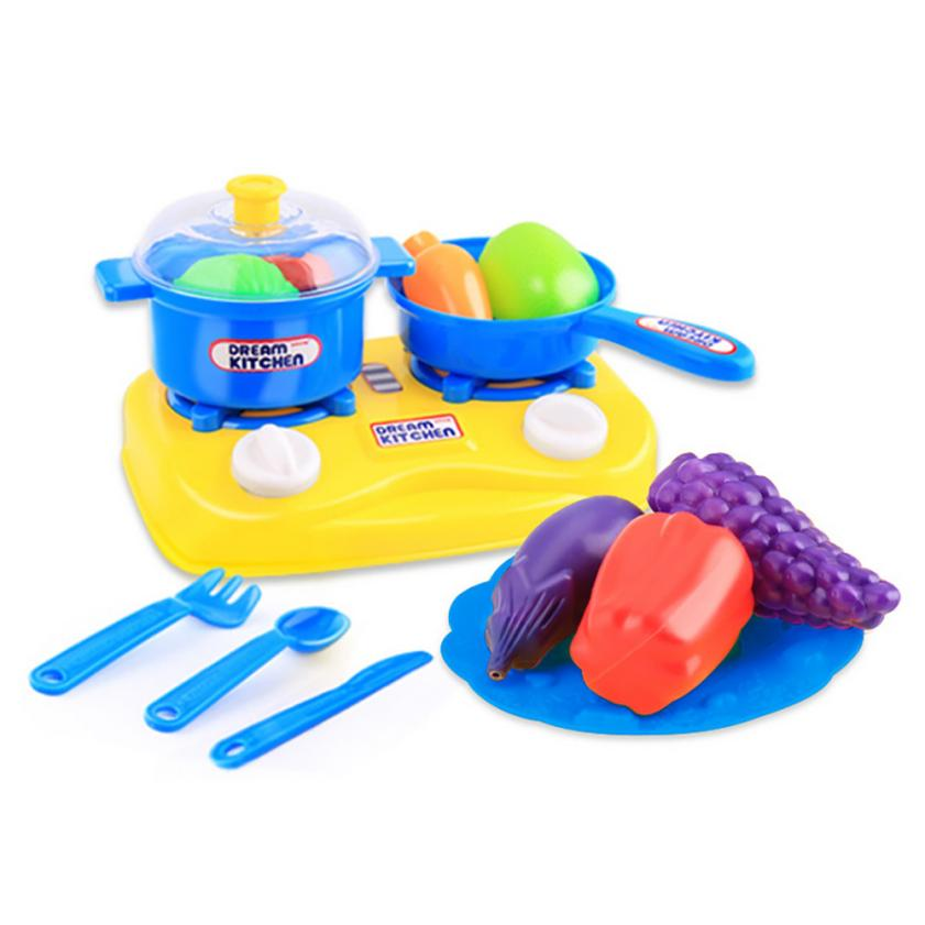 Hiinst kids kitchen toys 2017 11PC Cutting Fruit Vegetable Pretend Play Children Kid Educational Toy*R