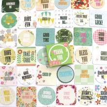 46pcs/box Blessing Words Stickers Travel Decorative Stationery Stickers Ocean whale sticker Scrapbooking DIY Diary Album Lable