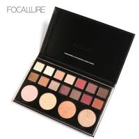 Focallure Shimmer Metallic Eyeshadow Palette 18 Full Colors Shimmer Matte Glitter Eye Shadow Pigment Cosmetics Powders