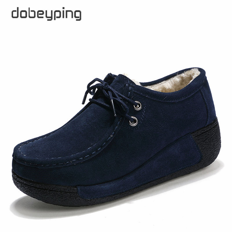 Image 5 - 2018 New Spring Summer Casual Shoes Woman Slip On Platform Women Flat Shoe Cow Leather Womens Loafers Moccasins Female Sneakersslip on platformslip on platform womenshoes woman slip on -