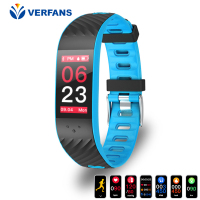 VERFANS P4 Color Screen Waterproof Motion Detection Sleep Monitoring Smart Bracelet Swimming Multilingual Application Color IPS
