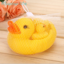 4Pcs Bathroom Bath Small Yellow Duck Mother And Child Set 4 Baby Toys For Supplies