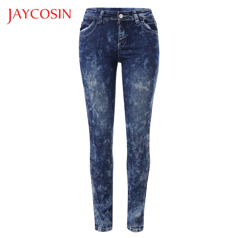 JAYCOSIN Loose Denim Women Autumn Elastic Plus  Embroidered Casual Cropped Jeans Stylish And Fashion Design You More Attractive