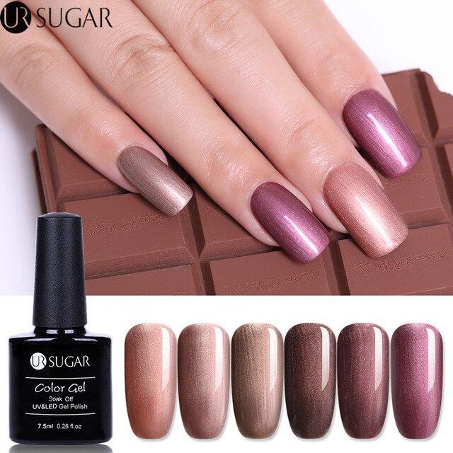 Ur Sugar Shell Gel Polish Pearl Shimmer Bronze Pure Color Uv 7 5