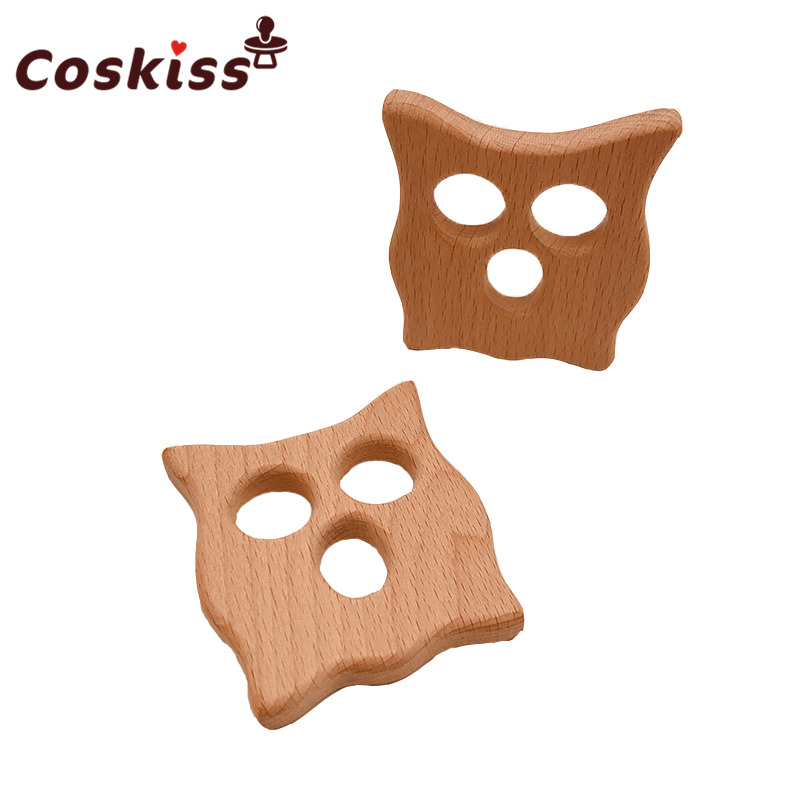 baby-teether-wood-cat-shape-teether-natrual-beech-wooden-owl-baby-teething-toys-accessories-baby-products-shower-gifts