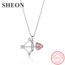 SHEON New Collection 925 Sterling Silver Trendy Personality 12 Constellation Pendant Necklace For Women Jewelry