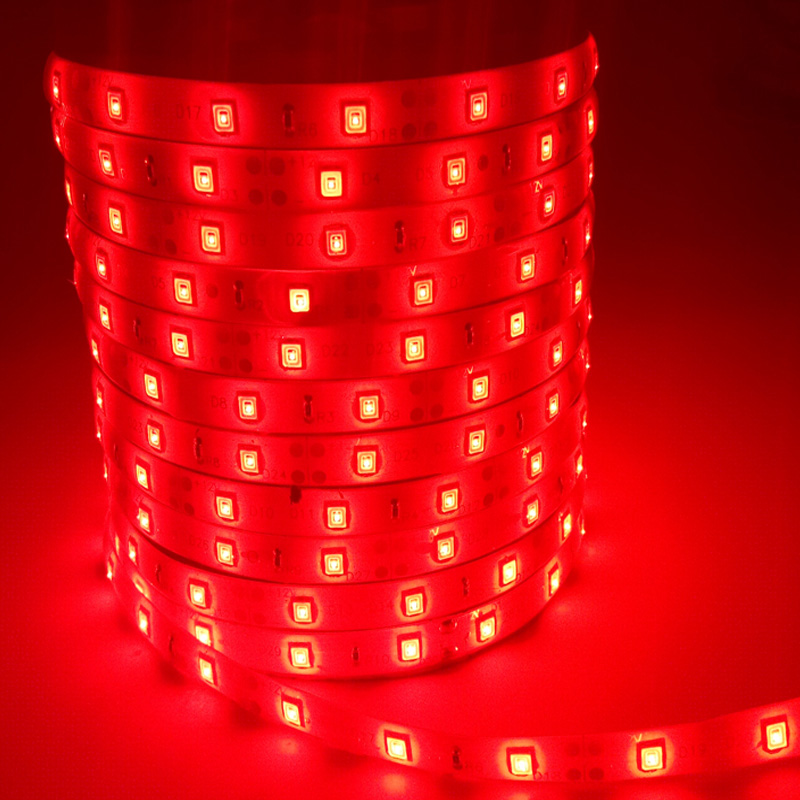 Hot sale SMD3528 5M 300Leds waterproof RGB/Red/Green/Blue/Yellow Led Strip Light DC12V 60Leds/M Fiexble Light Led Ribbon Tape