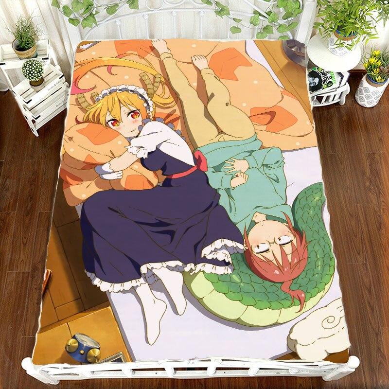 Anime Manga kobayashi-san Chi pas de bonne Dragon drap de lit 150*200 cm drap de lit