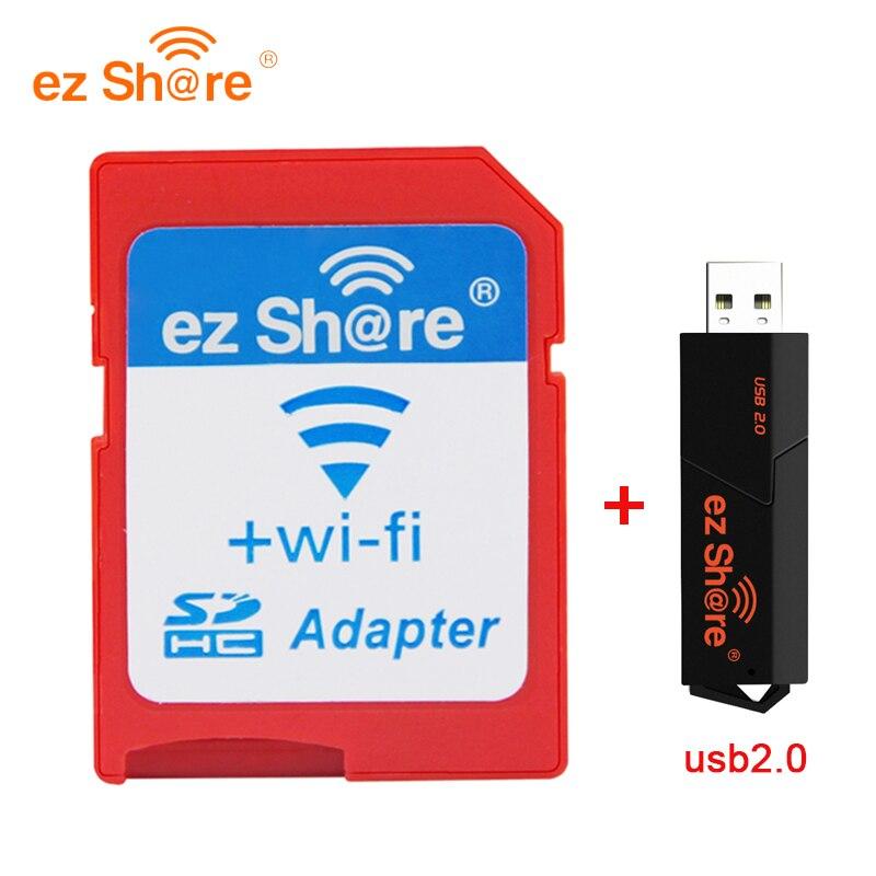 2018 Offre Spéciale Vente Directe ez partager Wifi Adaptateur Wifi Carte Sd et lecteur de carte peut utiliser 8g 16g 32g sans carte micro sd