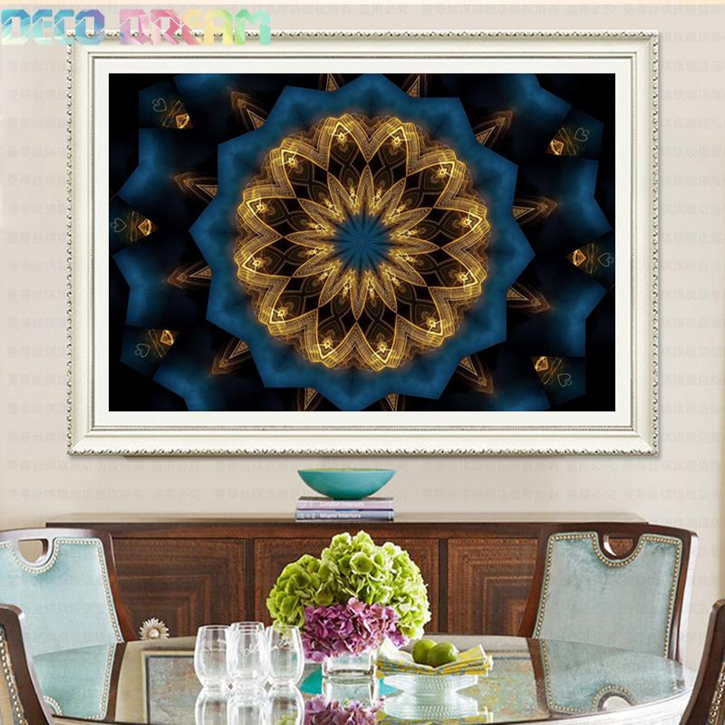 Diy Full Pebble Round Diamond Painting Rhinestones Embroidery Kit A Mysterious Mandala A Classical Mosaic Decor As A Hobby Gift