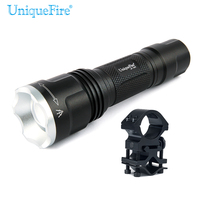 Small Torch Uniquefire Black UF 1507 940nm IR Led Flashlight + Scope Mount For Night Vision Hunting Free ship