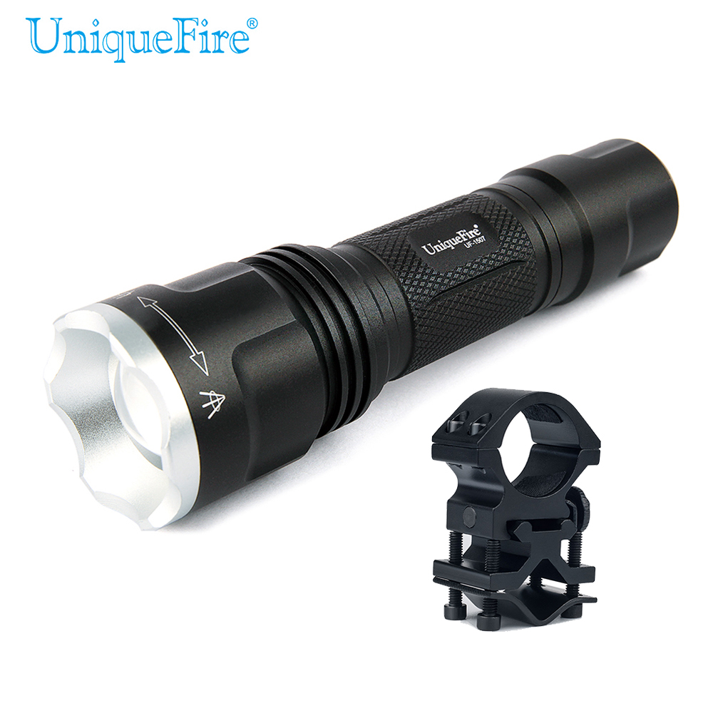 Small Torch Uniquefire Black UF-1507 940nm IR Led Flashlight + Gun Mount For Night Vision Hunting Free ship new product for hunting uniquefire black flashlight 1508 67mm 940nm ir led torch for outdoor night hunting free shipping