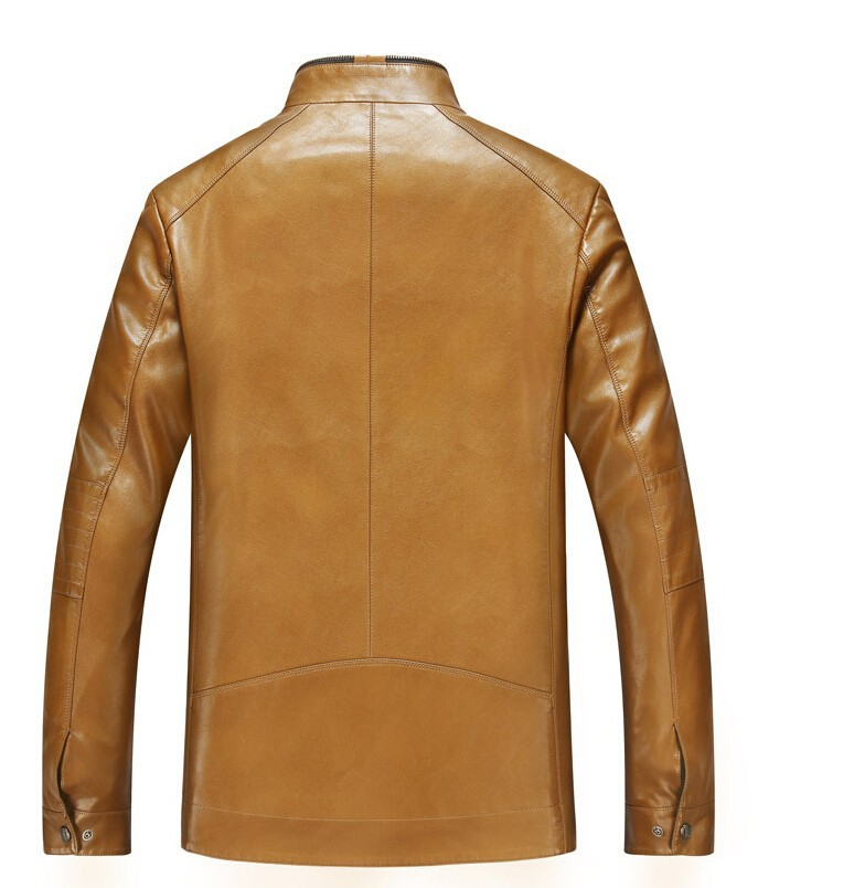 a04bb1ad5f5 2015 New Arrive Men Leather Jacket mens autumn style fashion genuine ...