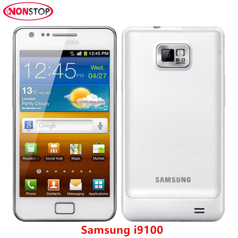 I9100 Original Unlocked Samsung GALAXY S2 I9100 Mobile Phone Android Wi-Fi GPS 8.0MP Camera 4.3'' 1GB RAM 16G ROM Cell Phone