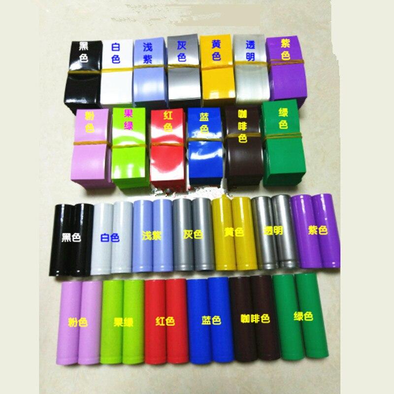 500pcs 18650 battery casing heat shrinkable sleeve insulation cover PVC film 75*30mm