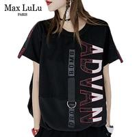 Max LuLu Luxury Japan Harajuku Girls Punk Streetwear Womens Diamonds T shirt Patchwork Summer Top Tee Shirt Woman Kawaii Tshirt