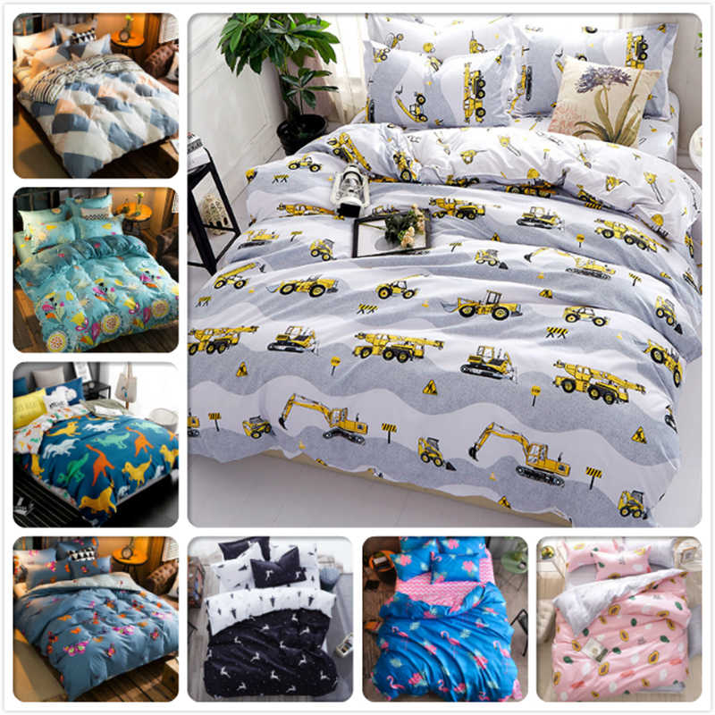 Full King Queen Twin Double Single Size Duvet Cover Child Kids 4pcs Bedding Set 1.5m 1.8m 2m 2.2m Bed Sheet Bedclothes Bed Linen