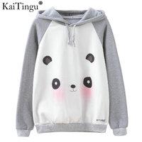 KaiTingu Brand Fashion Women Sweatshirt Harajuku Panda Print Hoodies Autumn Winter Long Sleeve Hooded Tracksuit Jumper
