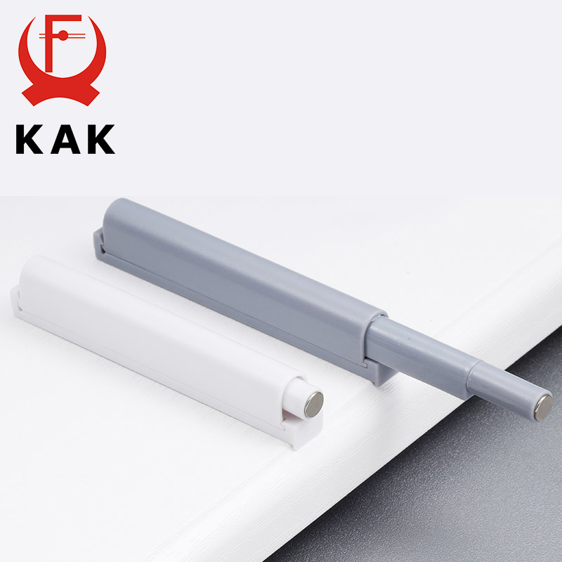 KAK 4pcs/lot Push To Open System Damper Buffer For Cabinet Door Cupboard Catch With Magnet For Home Kitchen Furniture Hardware high quality 4 pcs furniture door catch magnetic magnet for diy furniture