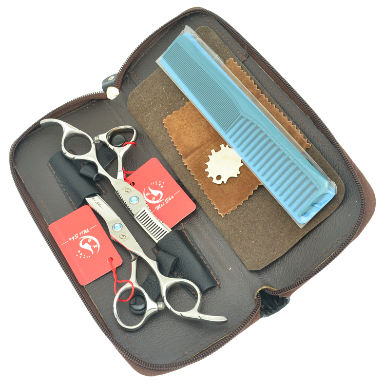 6,0 дюйма Meisha JP440C Парикмахерские ножницы Наборы Professional Hair ножницы истончение обрезки Tesouras резкое волос с HA0373