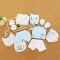 18 pieces Newborn Baby Clothing Set Infant 100% Cotton Character Underwear Suits Neonatal Gift Set For Spring Autumn