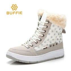 Femmes chaussures d'hiver 2018 nouvelle mode bottes de neige doublure de fourrure dame chaussures courtes plus grande taille 36 à 41 femmes cheville hiver bottes chaudes