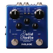 NUX Solid Studio электрогитара педаль эффектов ИК-погрузчик встроенный шкаф микрофоны усилитель питания управления симулятор аксессуары