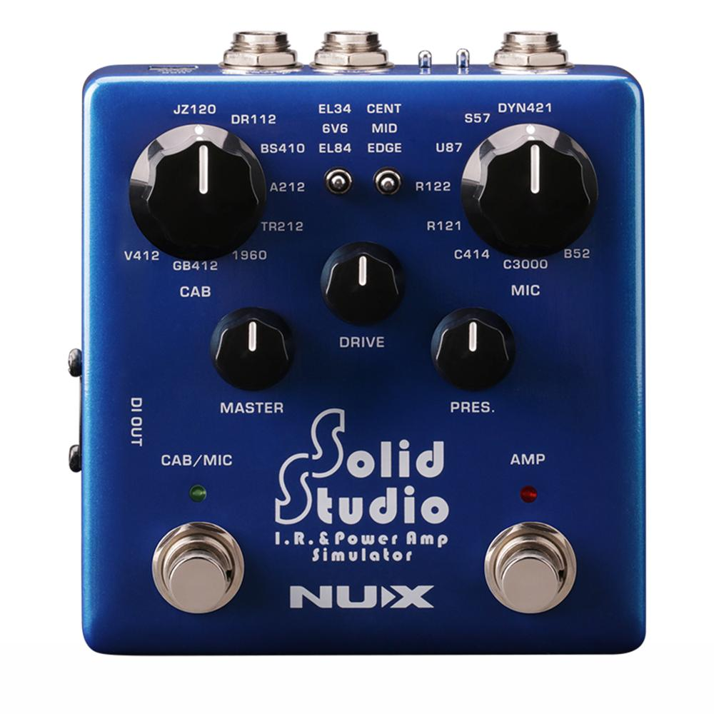 NUX Solid Studio Electric Guitar Effects Pedal IR Loader Built in Cabinet Microphones Power Amp Controls Simulator Accessories