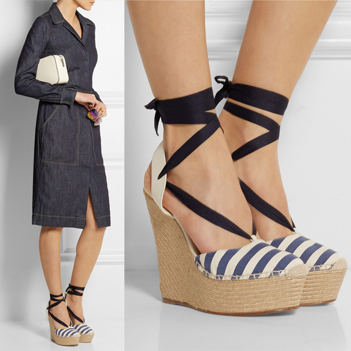 8bdfe84f83e Luxury Stripe lace up espadrille wedge sandal women genuine leather high  heel platform sandals plus size-in Women s Sandals from Shoes on  Aliexpress.com ...